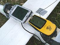 etrex and iPAQ on the 'plane
