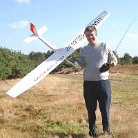 Robin with Model Aircraft